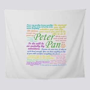 Peter Pan Quotes Wall Tapestry