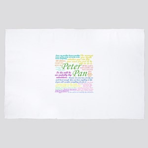 Peter Pan Quotes 4' x 6' Rug
