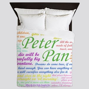 Peter Pan Quotes Queen Duvet