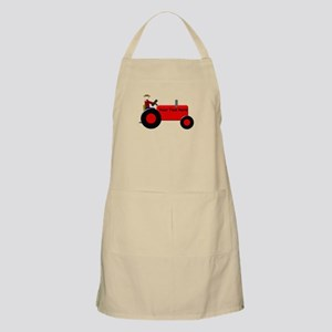 Personalized Red Tractor Apron