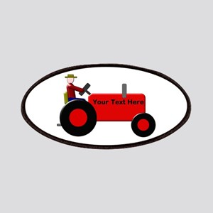 Personalized Red Tractor Patch
