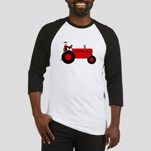 Personalized Red Tractor Baseball Jersey