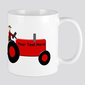 Personalized Red Tractor Mug