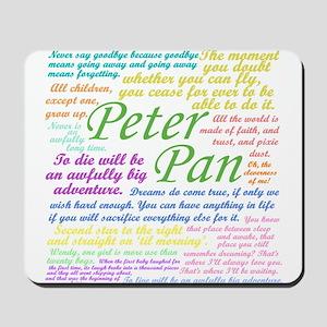 Peter Pan Quotes Mousepad