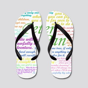 Peter Pan Quotes Flip Flops