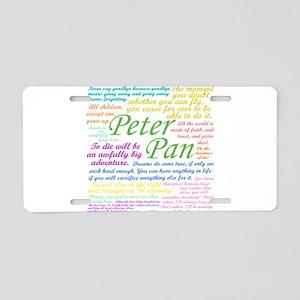 Peter Pan Quotes Aluminum License Plate