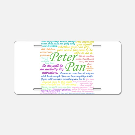 Peter Pan Quotes Aluminum License Plate