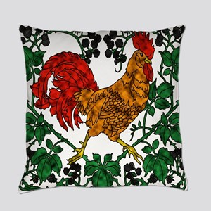 Rooster and Blackberries Everyday Pillow