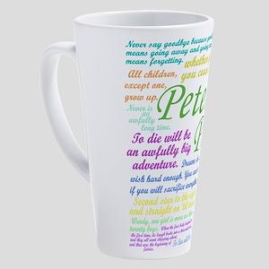 Peter Pan Quotes 17 oz Latte Mug