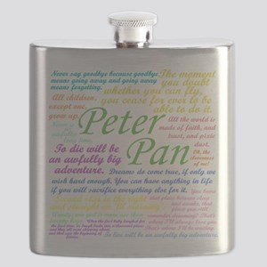 Peter Pan Quotes Flask