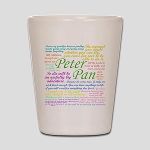Peter Pan Quotes Shot Glass