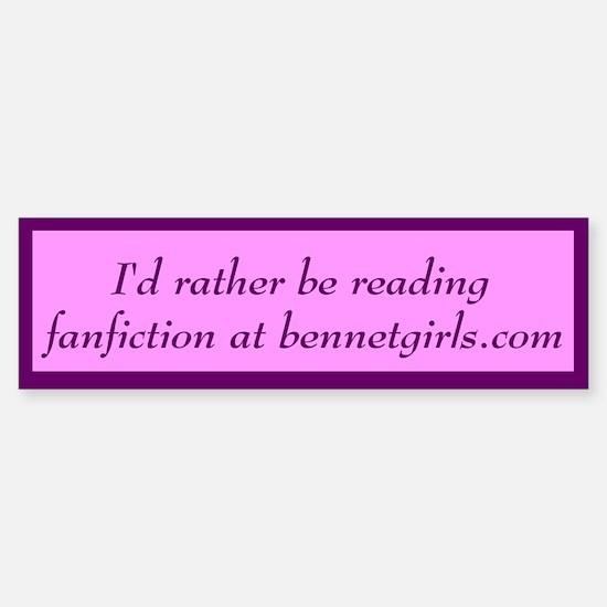Bennetgirls Jane Austen Bumper Bumper Bumper Sticker