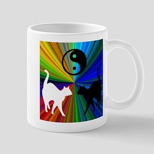 YIN-YANG RAINBOW CATS Mug