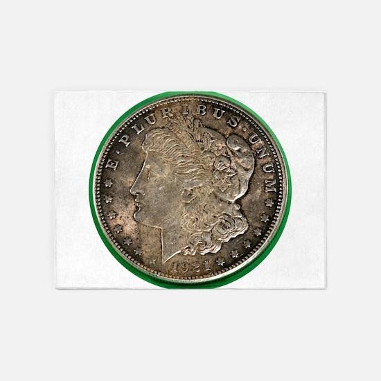 Morgan Silver Dollar 5'x7'Area Rug