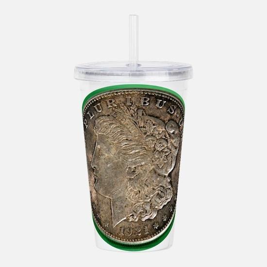Morgan Silver Dollar Acrylic Double-wall Tumbler
