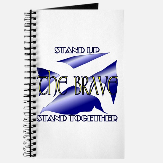 Stand Up Together Scots Navy Blue Journal