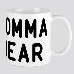 Momma Bear Black Mug