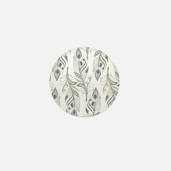 Beautiful Feathers Mini Button