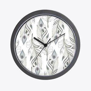Beautiful Feathers Wall Clock