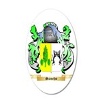 Sancho 35x21 Oval Wall Decal
