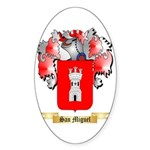 San Miguel Sticker (Oval)