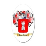 San Miguel 20x12 Oval Wall Decal