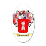 San Miguel 35x21 Oval Wall Decal