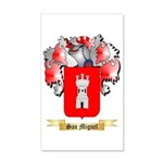 San Miguel 35x21 Wall Decal