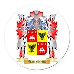 San Martin Round Car Magnet