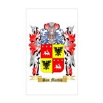 San Martin Sticker (Rectangle)