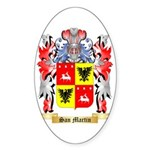San Martin Sticker (Oval 10 pk)