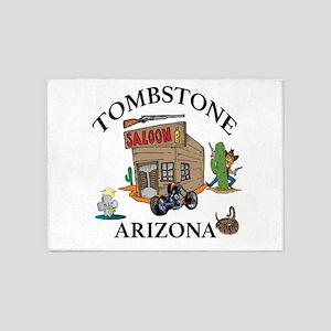 Tombstone, Arizona 5'x7'area Rug