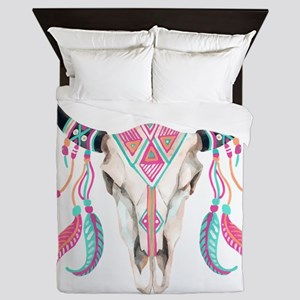 Buffalo Skull Queen Duvet