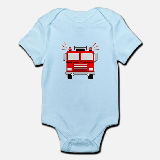 Personalized Fire Truck Infant Bodysuit