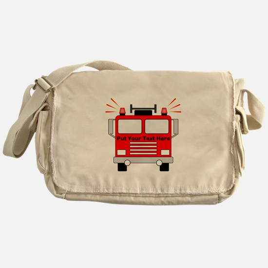 Personalized Fire Truck Messenger Bag