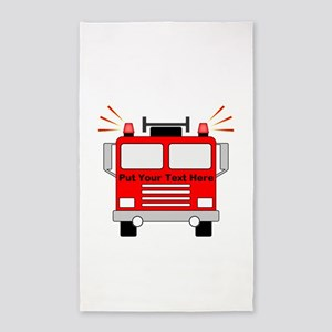 Personalized Fire Truck Area Rug