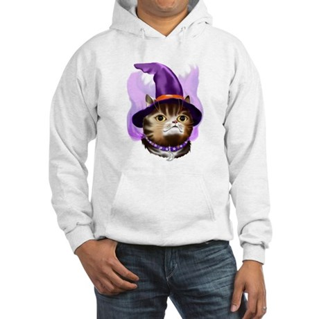 Witch Face Kitty Hooded Sweatshirt