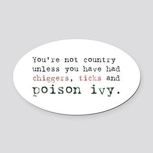 Not country Oval Car Magnet