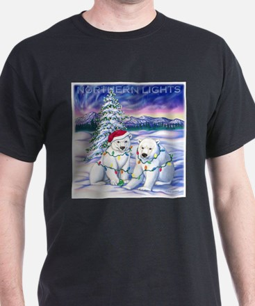 Northern Lights White T-Shirt