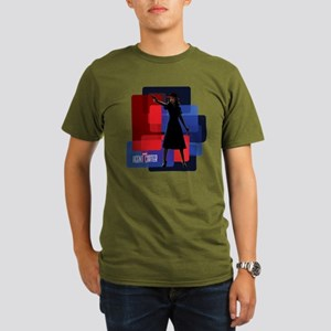 Agent Carter Squares Organic Men's T-Shirt (dark)