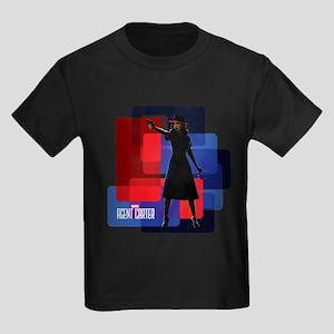 Agent Carter Squares Kids Dark T-Shirt