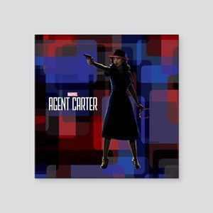 "Agent Carter Squares Square Sticker 3"" x 3"""
