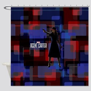 Agent Carter Squares Shower Curtain