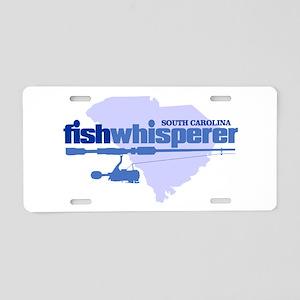 SC fishwhisperer Aluminum License Plate