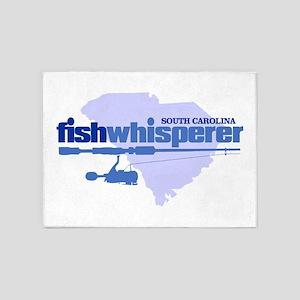 SC fishwhisperer 5'x7'Area Rug