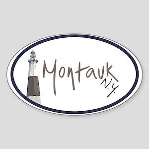 Montauk NY Oval Sticker