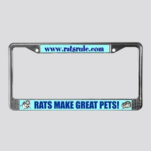 Rats Rule License Plate Frame