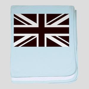 black union jack british flag baby blanket