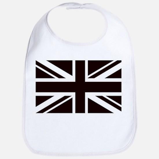 black union jack british flag Bib