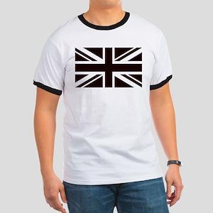 black union jack british flag T-Shirt